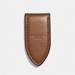 🆕 Coach Leather Money Clip